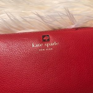 kate spade Bags - Kate Spade Red Leather Wallet